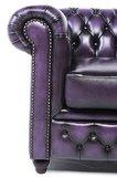 Chesterfield Sofa Original Leder   3-Sitzer   Antik violett   12 Jahre Garantie_