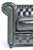 Chesterfield Sofa Original Leder | 4-Sitzer | Antik grün | 12 Jahre Garantie_