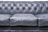 Chesterfield Sofa Vintage Leder   3-Sitzer   Schwarz   12 Jahre Garantie_