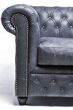 Chesterfield Sofa Vintage Leder | 5-Sitzer| Schwarz | 12 Jahre Garantie_
