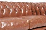Chesterfield Sofa Vintage Leder   6-Sitzer   Mokka   12 Jahre Garantie_
