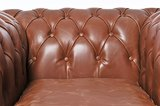 Chesterfield Sessel Vintage Leder   Mokka   12 Jahre Garantie_