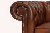 Chesterfield Sessel First class Leder | Cloudy Braun Old | 12 Jahre Garantie_