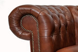 Chesterfield  Sofa Class Leder |3- Sitzer| Cloudy Braun Alt | 12 Jahre Garantie_