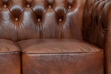 Chesterfield  Sofa First Class Leder |3- Sitzer| Cloudy Braun Old | 12 Jahre Garantie_