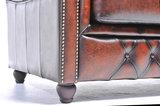 Chesterfield Sofa Original Leder |  1 + 2 + 3 Sitzer | Antik Braun |12 Jahre Garantie_