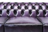 Chesterfield Sofa Original Leder |  1 + 2 + 3 Sitzer | Antik Violett |12 Jahre Garantie_