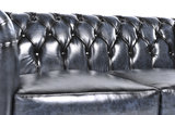 Chesterfield Sofa Original Leder    2 + 3  Sitzer   Antik Blau  12 Jahre Garantie_