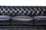 Chesterfield Sofa Original Leder |  1+ 1 + 3  Sitzer | Schwarz |12 Jahre Garantie_