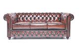Chesterfield Sofa Original Leder |  1+ 1 + 3  Sitzer | Antik Braun |12 Jahre Garantie_