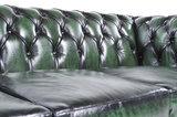 Chesterfield Sofa Original Leder |  1+ 1 + 3  Sitzer | Antik Grün |12 Jahre Garantie_