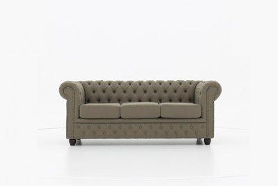 Chesterfield Sofa Original Stoff   3-Sitzer   Pitch Beige    12 Jahre Garantie