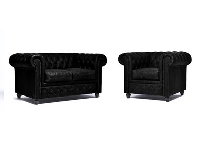 Chesterfield Sofa Vintage Leder C0871 | 1 + 2 Sitzer | 12 Jahre Garantie