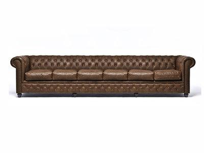 Chesterfield Sofa Vintage C0869 | 6-Sitzer | 12 Jahre Garantie